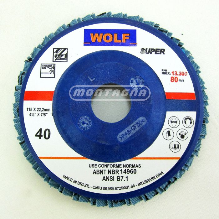FLAP DISC WOLF SUPER PLÁSTICO