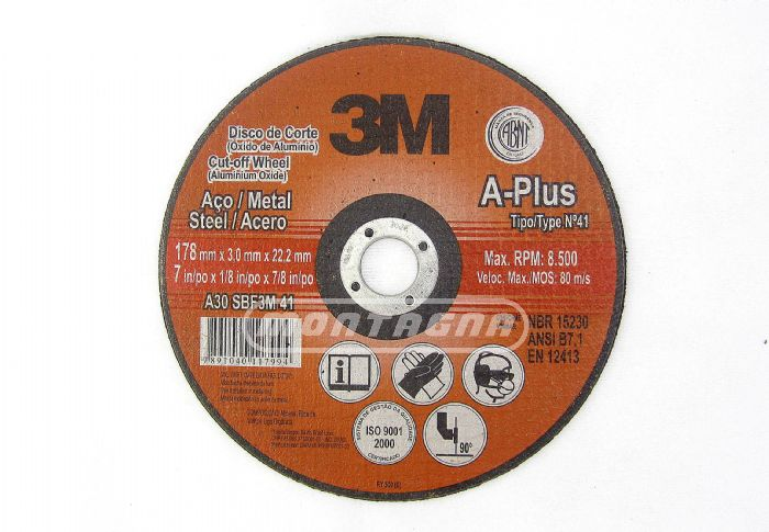 3M - DISCO CORTE A-PLUS / Ø 115, 180, 230, 250, 300, 350MM
