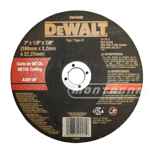 DEWALT - DISCO CORTE METAL / Ø 115, 180, 230MM