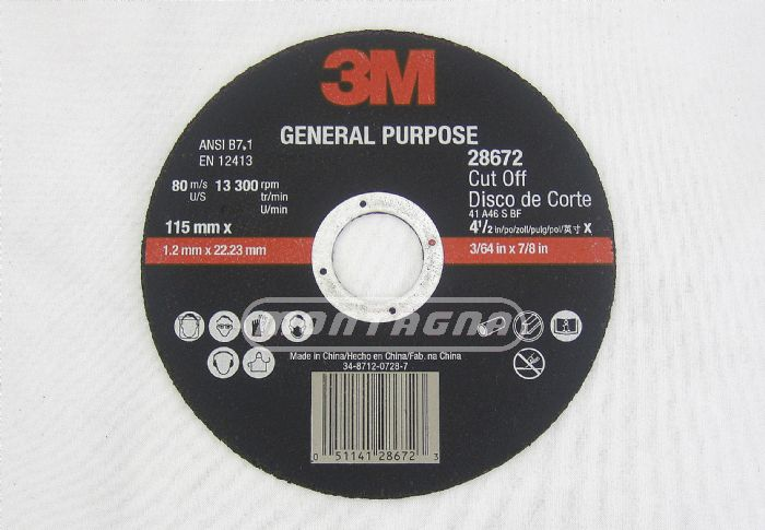 3M - DISCO CORTE GP / Ø 115, 180, 230, 305, 355MM